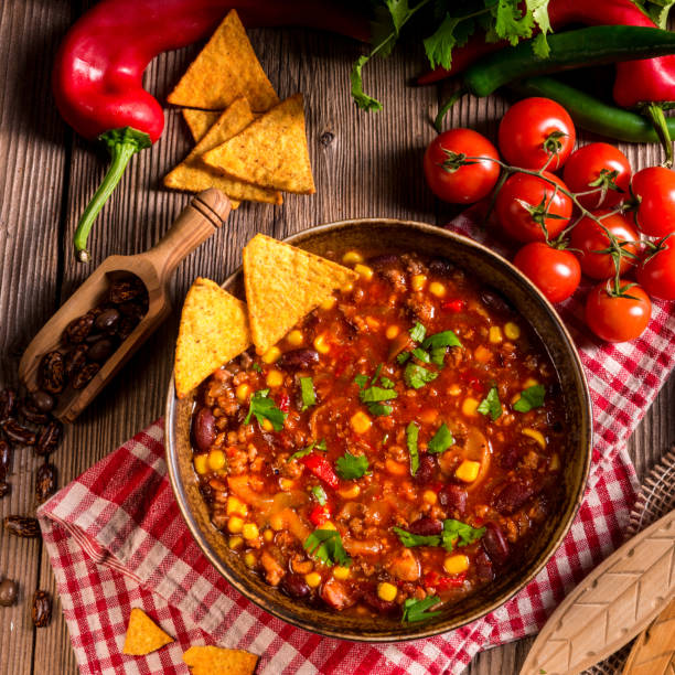 Chili con Carne Chili con CarneChili con Carne chili con carne stock pictures, royalty-free photos & images
