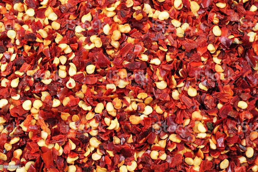 Chili flakes close up foto royalty-free