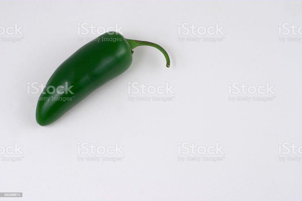 Chili - Green Jalapeno royalty-free stock photo