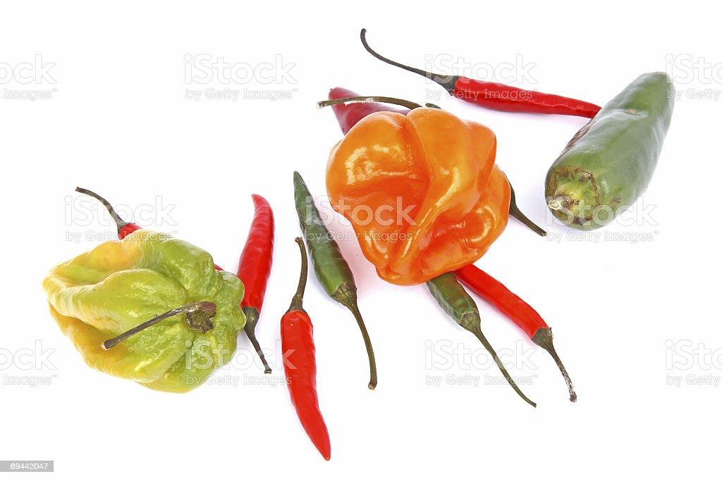 chili mix on white royalty-free stock photo