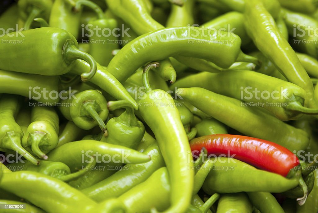 chili paprika in a market royalty-free stock photo
