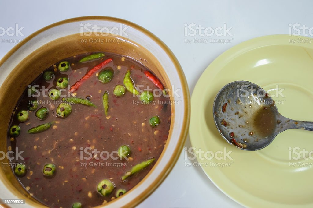 Chili paste stock photo