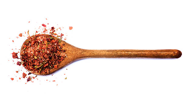 Chili Pepper and Herbs stock photo