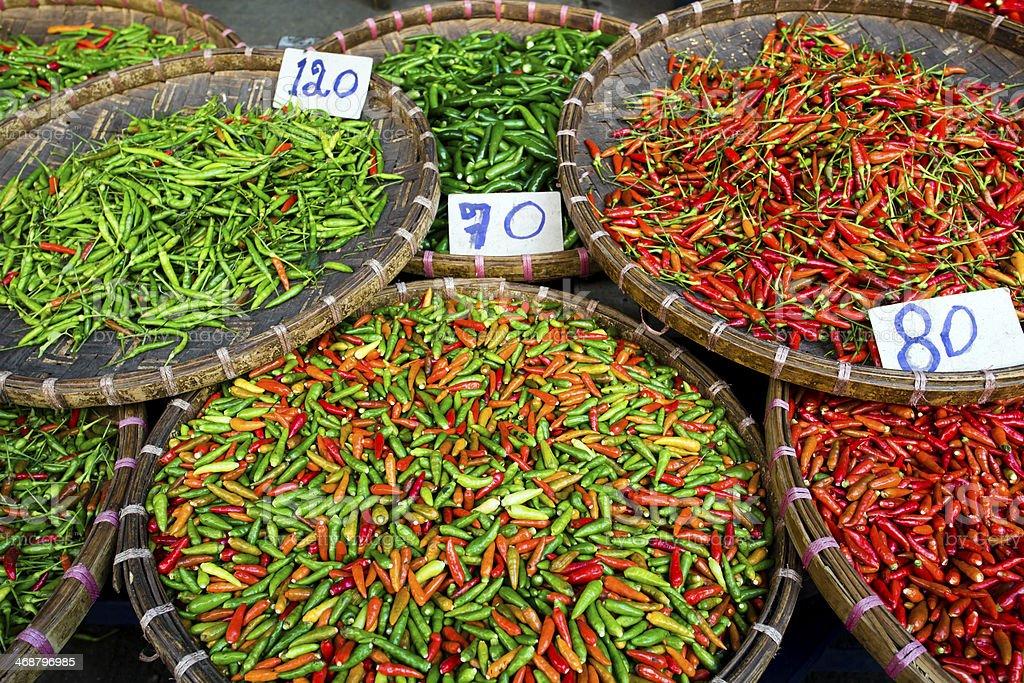 Chili Pepper Thai Cuisine Thailand royalty-free stock photo