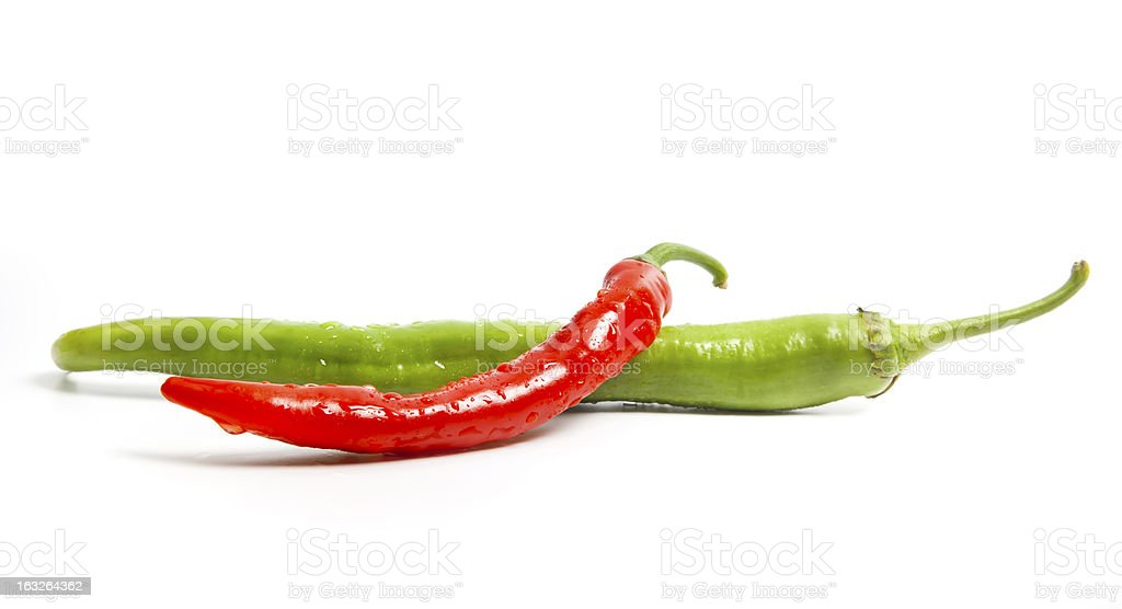 Chili peppers composition isolated on white royalty-free stock photo