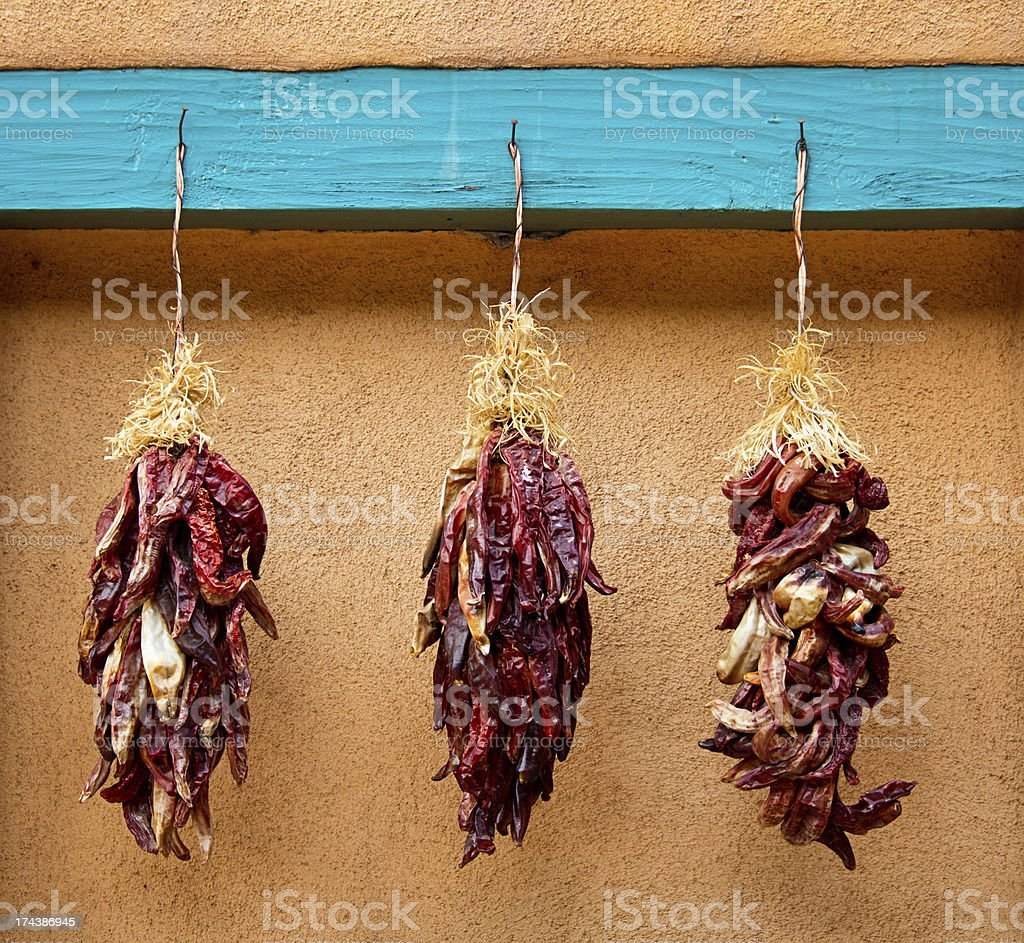 Chili Peppers Ristras royalty-free stock photo