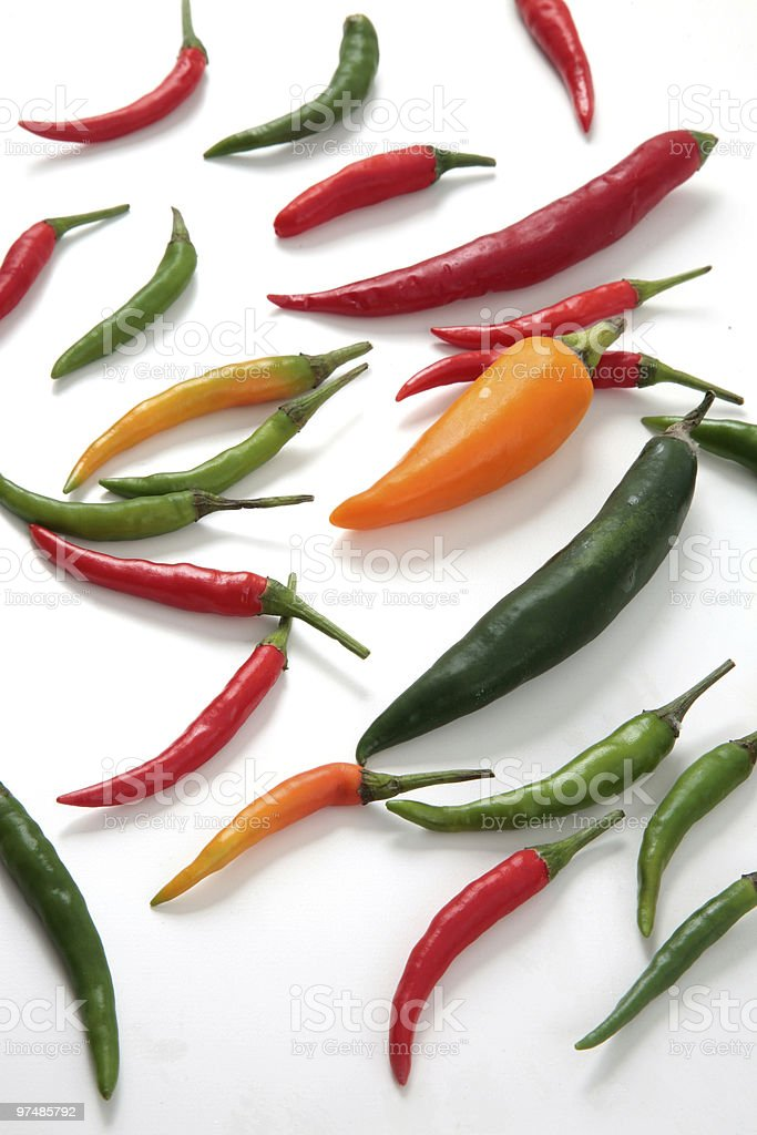 chili peppers variety royalty-free stock photo