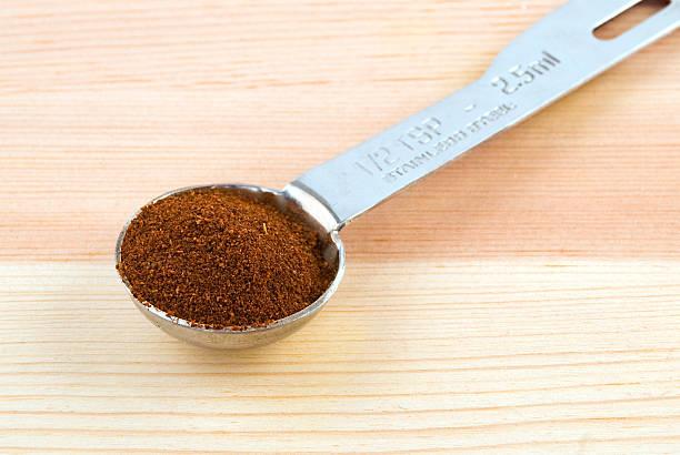 Chili Powder in Measuring Spoon stok fotoğrafı