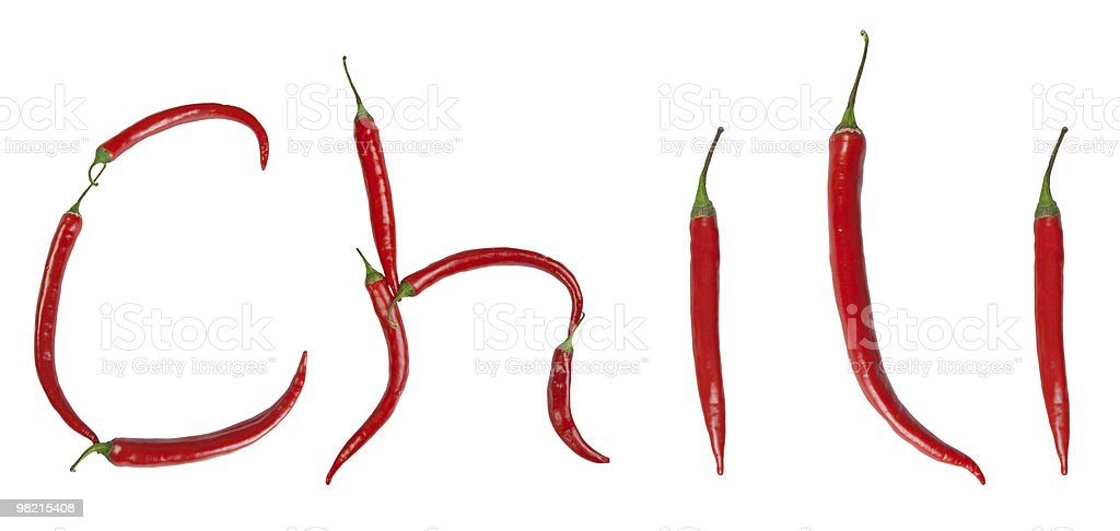 chili inscription royalty-free stock photo