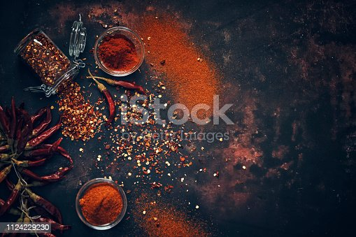 Chili Spice Mix with Chili Powder and Dried Chilies