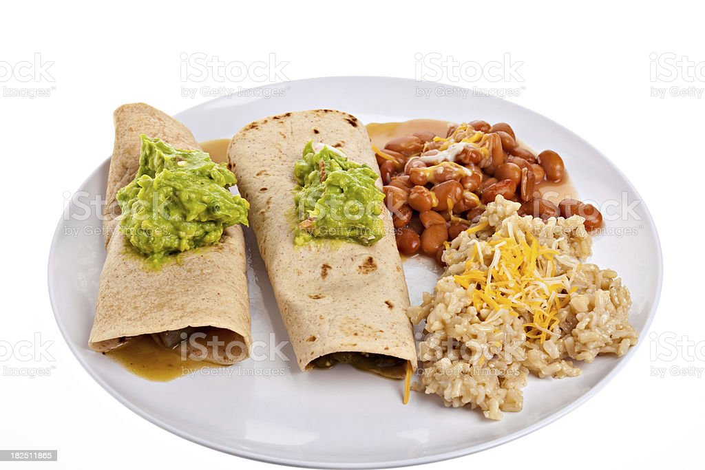 Chili Verde Burritos royalty-free stock photo