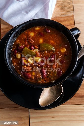Hot and spicy bowl of Chili con carne