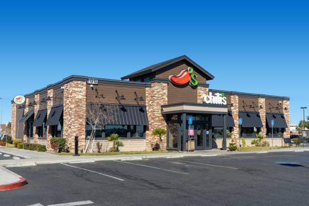 Chili's restaurant exterior building in Victorville, CA stock photo