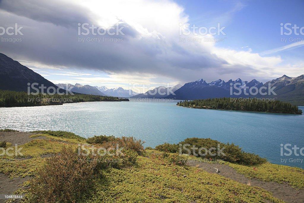 Chilko Lake at Ts'il?os Provincial Park Nu Chugh Beniz Campground. stock photo