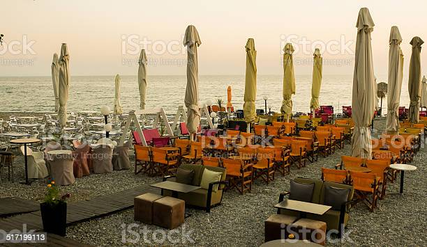 Chill restaurant at the sea.