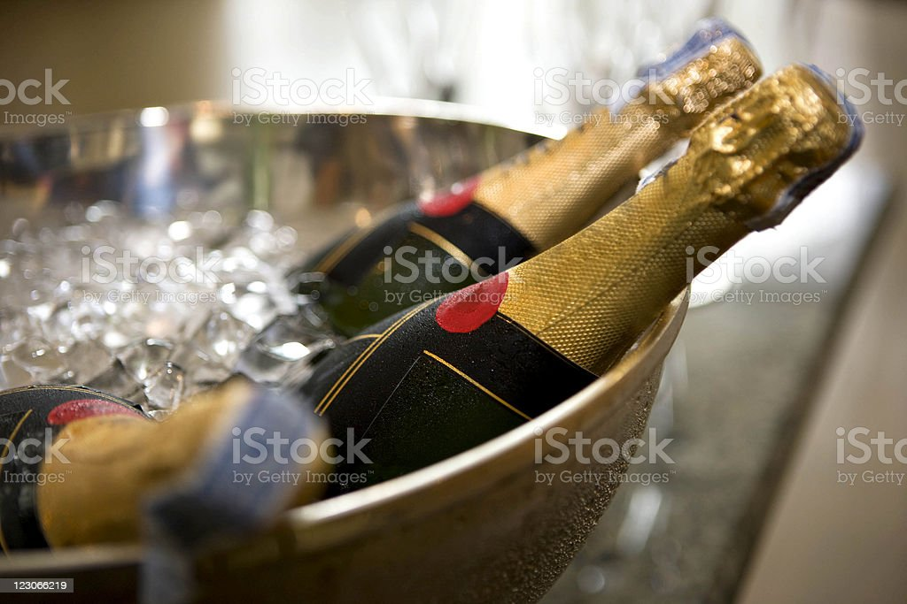 Chilled Champagne stock photo