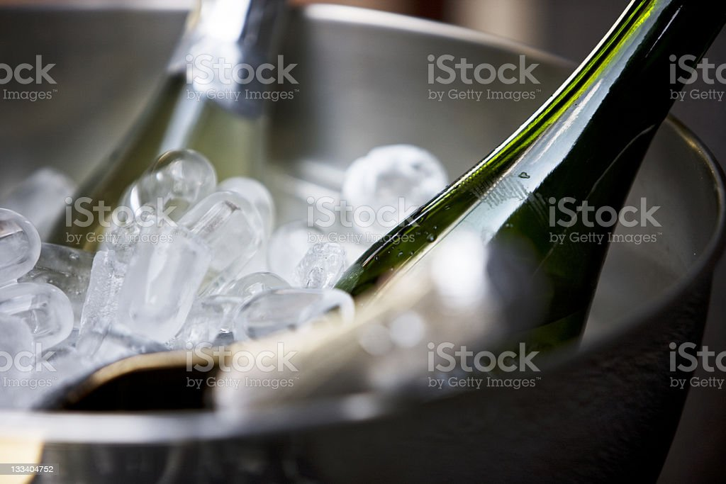 Chilled champagne royalty-free stock photo