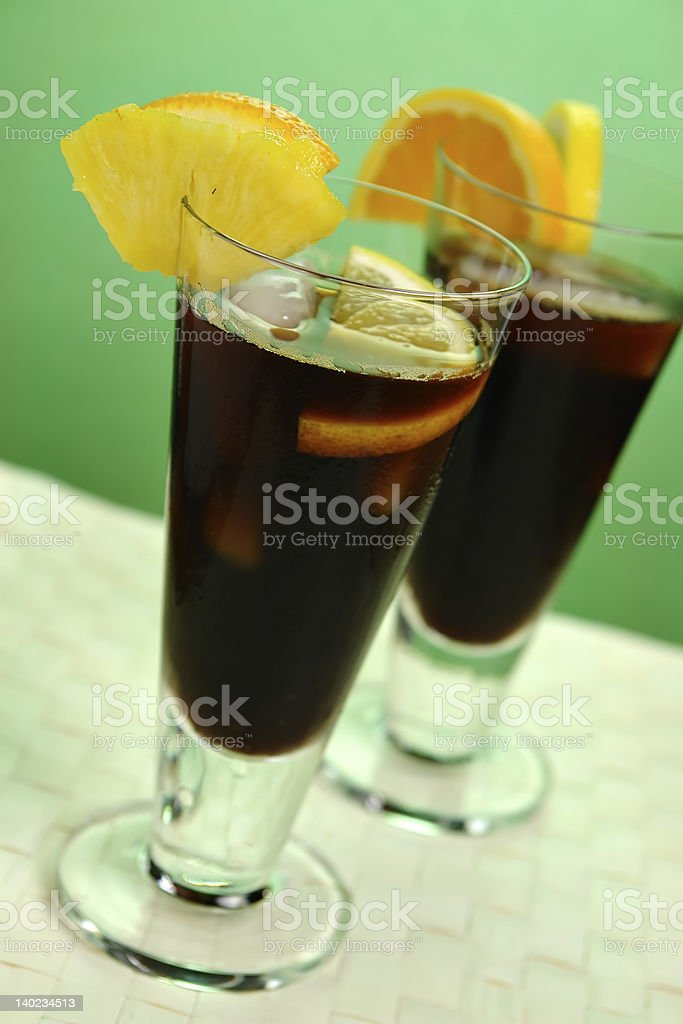 Chilled Coffee Caribbean royalty-free stock photo