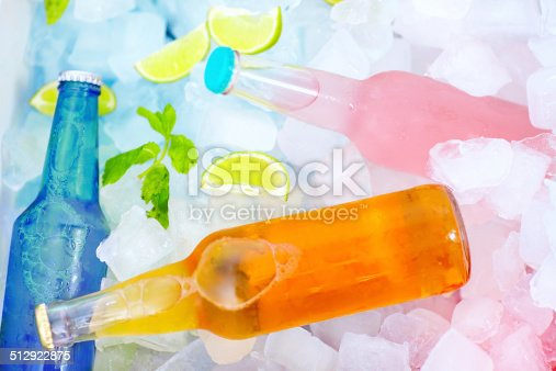istock chilled colorful beverages in ice box. summer party 512922875