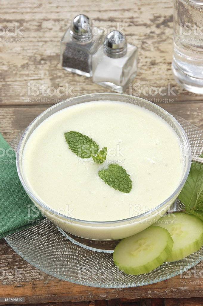 Chilled Cucumber Soup stock photo