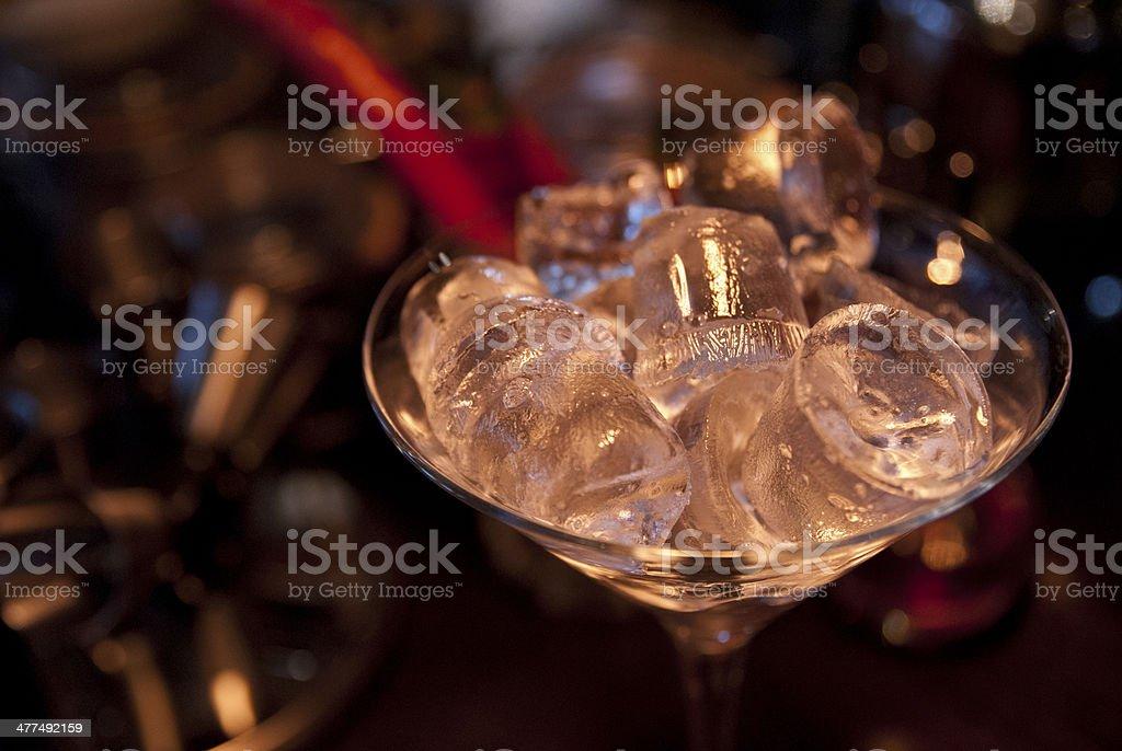 Chilled Martini glass stock photo