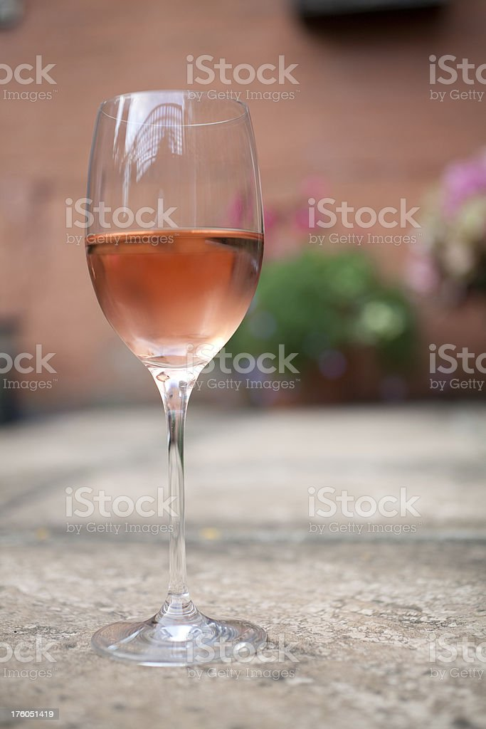 Chilled Rosé Wine in a glass stock photo