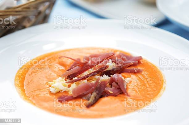 Chilled Salmorejo Soup Stock Photo - Download Image Now