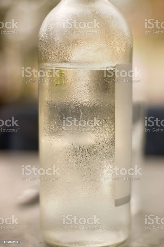 Chilled water on a hot day stock photo