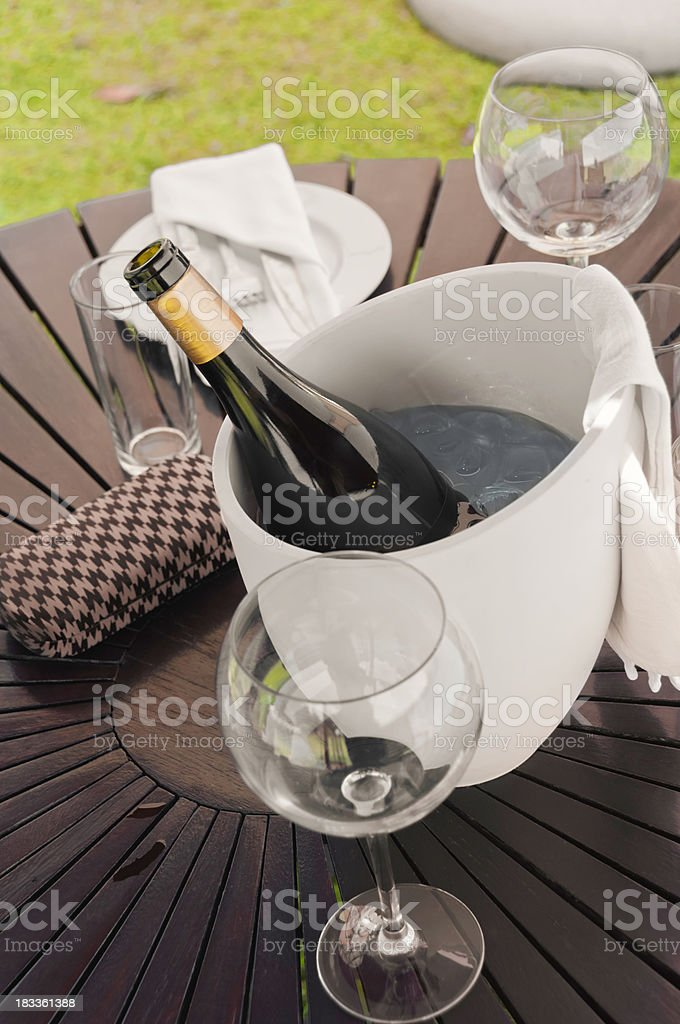 Chilled wine royalty-free stock photo