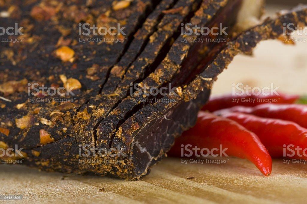 Peperoncino biltong foto stock royalty-free