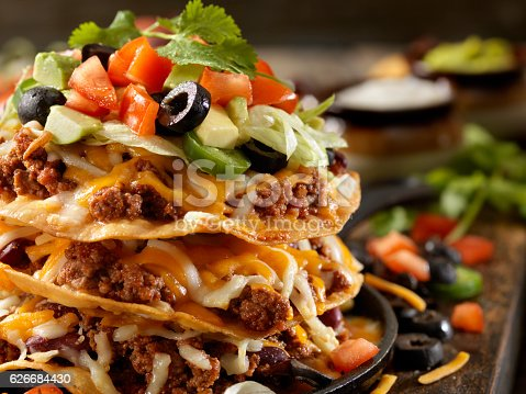 Chilli Cheese Tostada Tower - Photographed on Hasselblad H3D2-39mb Camera