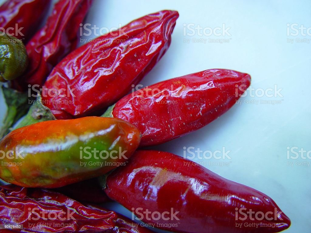 Chilli Peppers Close up royalty-free stock photo