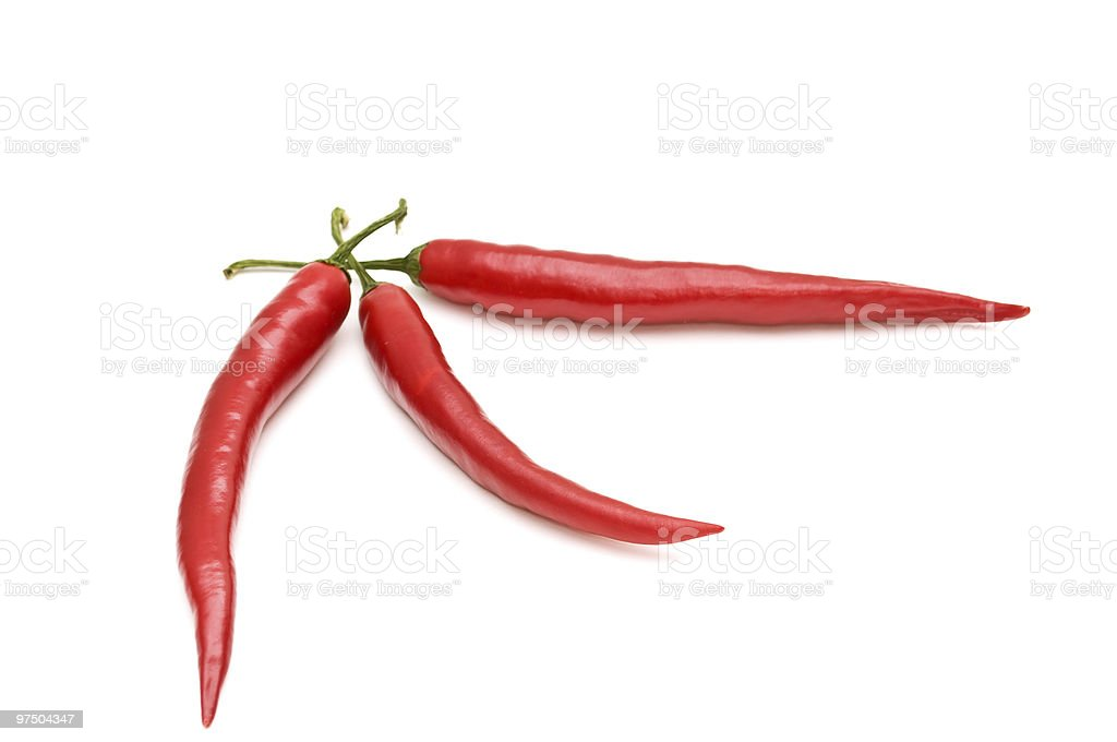 Chilli peppers. royalty-free stock photo