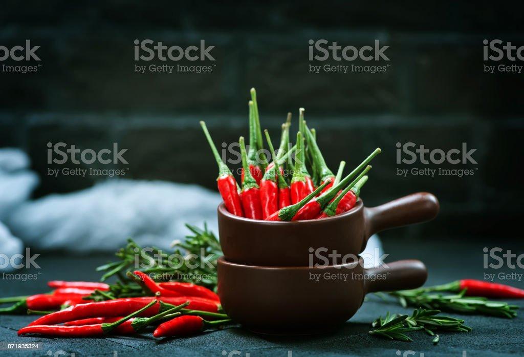 Chilli stock photo
