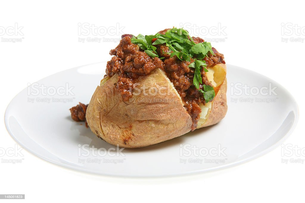 Chilli Potato stock photo