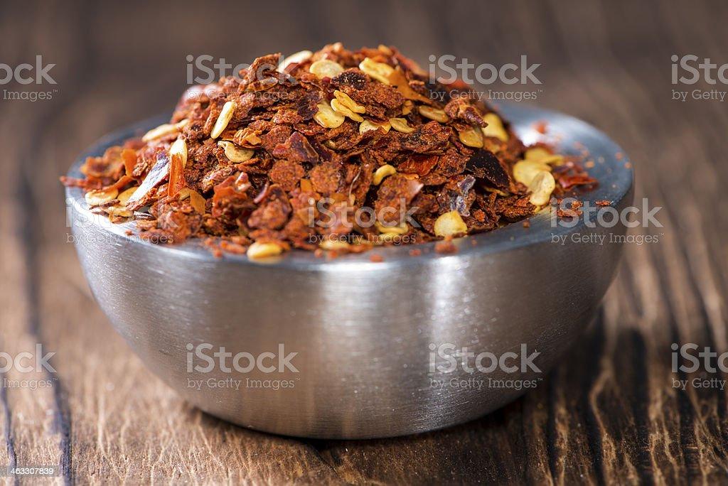 Chilli Spice in a small Bowl stock photo