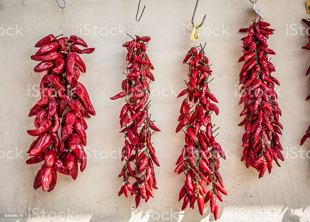 Chillies for sale, Tropea – Foto