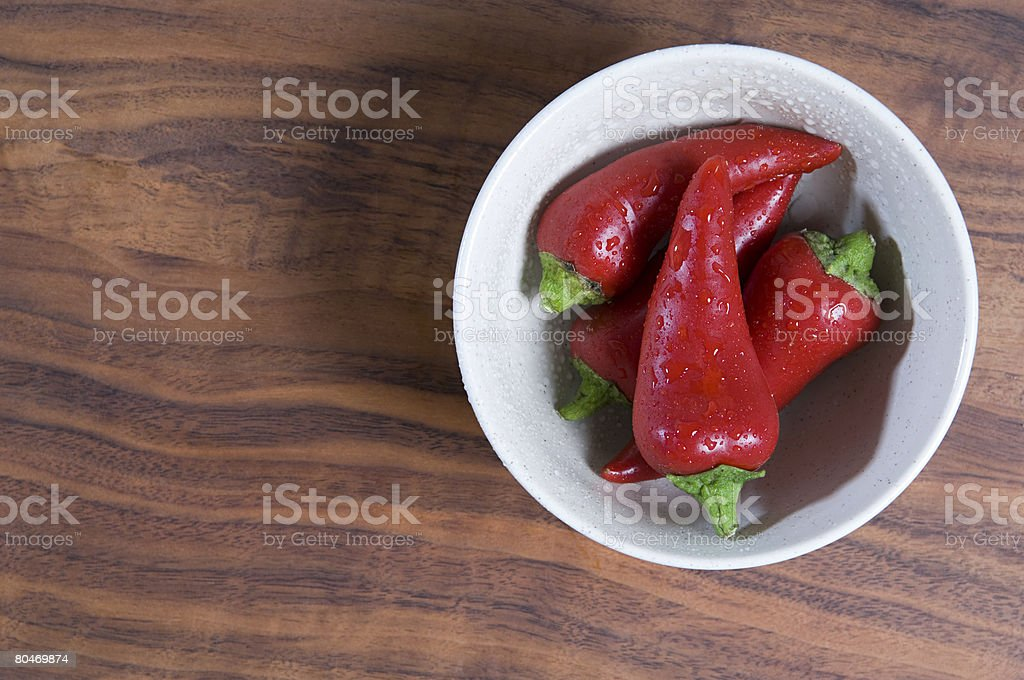 Chillies in a bowl 免版稅 stock photo