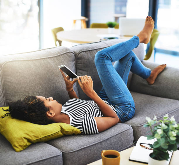 Chilling and chatting stock photo