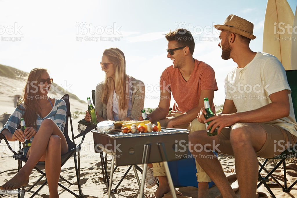 Chilling at the beach stock photo
