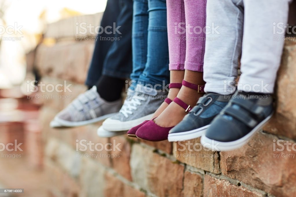 Chilling before class starts stock photo