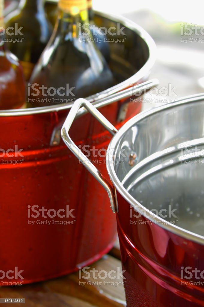 chilling buckets royalty-free stock photo