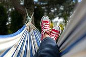 istock Chilling in hammock 1223650378