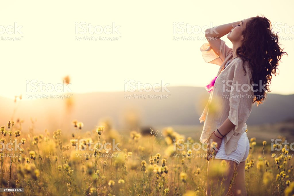 Chilling In Natural Scenery stock photo