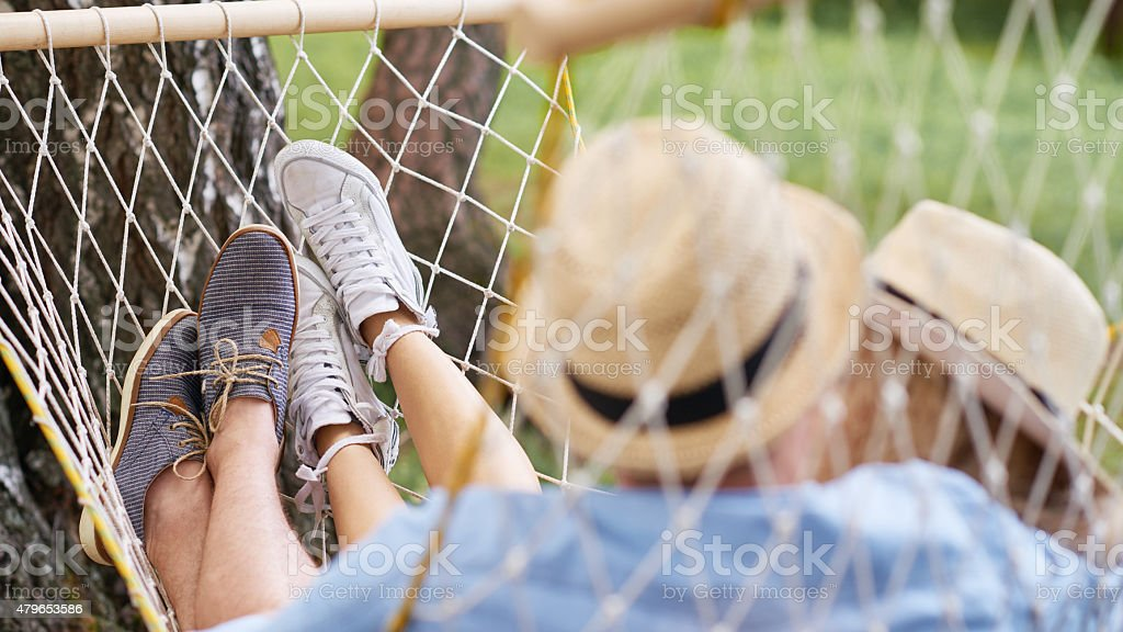 Chilling out together stock photo