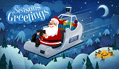 Santa's recent upgrade to a self-driving gps-enabled zero-emissions hypersled has been great for everyone. Santa travels in ease and style, and the reindeer get a much needed vacation.