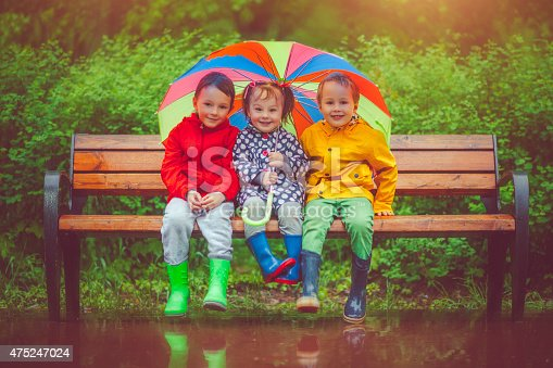 istock Chilren under umbrella 475247024