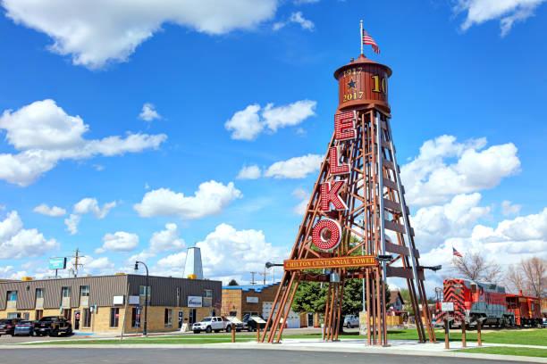 Chilton Centennial Tower in Elko stock photo
