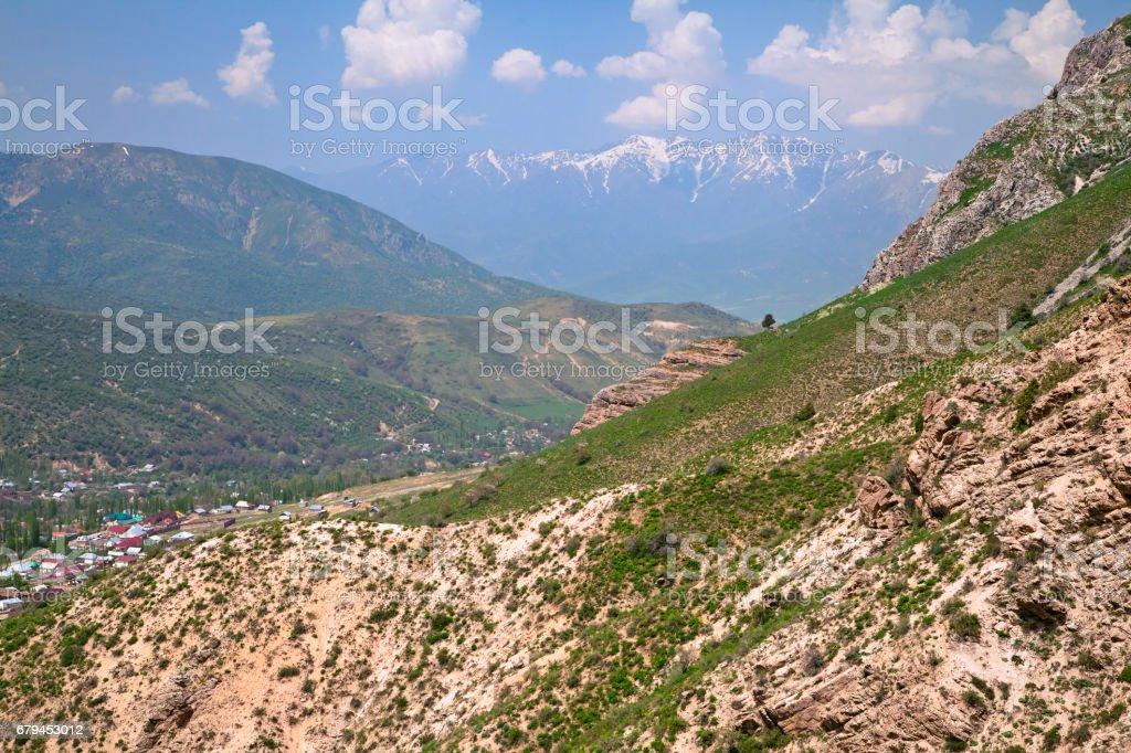 Chimgan mountains, Uzbekistan royalty-free stock photo