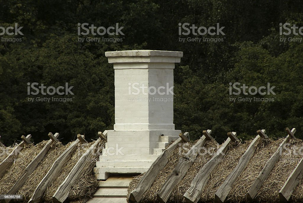 chimney against trees royalty-free stock photo